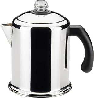 Farberware 50124 Classic Yosemite Stainless Steel Coffee Percolator – 8 Cup, Silver