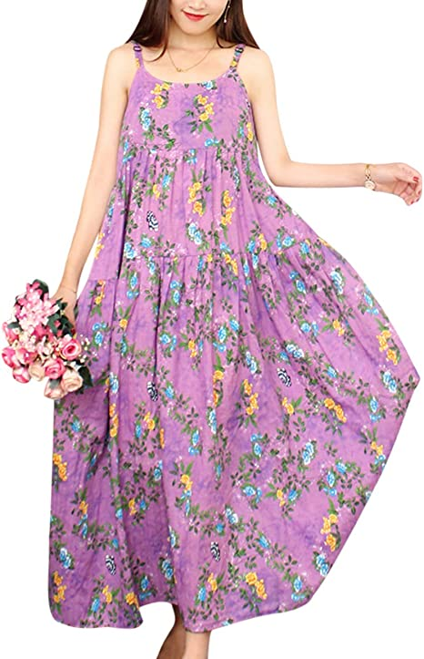long purple breathtaking dress with pattern, beautiful summer dresses 2021