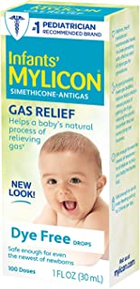 Infants' Mylicon Gas Relief Drops for Infants and Babies, Dye Free Formula, 1 Fluid Ounce