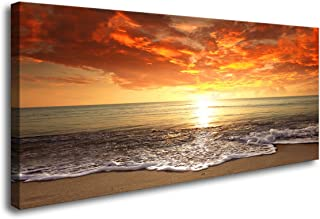 Baisuart-S0162 Canvas Prints Wall Art Sunset Ocean Beach Pictures Photo Paintings for..