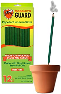 Mosquito Guard Incense Repellent Sticks – 12 Inch Incense Sticks Made with Natural..