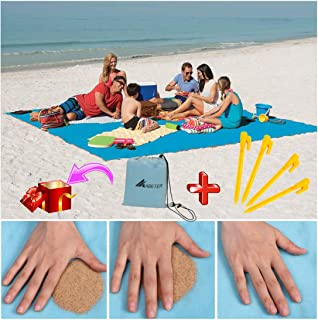 ABETER Sand Free Beach Mat Blanket Sand Proof Magic Sandless Sand Dirt & Dust..