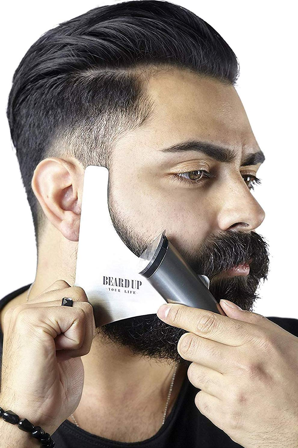 Premium Stainless Steel Stencil Beard Styling Made In Germany Shaving Template For Your Daily