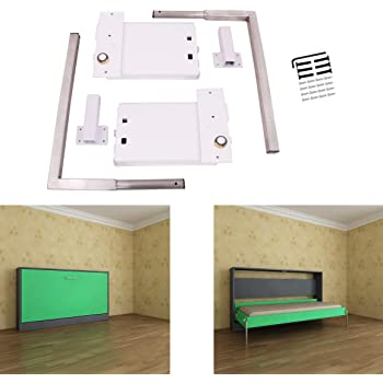 Amazon Com Eclv Horizontal Murphy Wall Bed Springs Mechanism Hardware Kit For Full Size Queen Size Twin Size King Size Bed Horizontal Wallbed Mounting White Furniture Decor