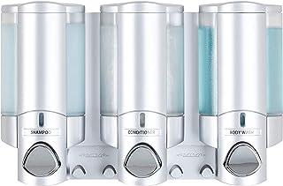 Better Living Products 76335-1 Aviva 3 Chamber Wall Mount Soap and Shower Dispenser,..