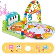 Baby Gym Baby Play Mat, Kick and Play Piano Gym with 5 Infant Learning Sensory Baby Toys, Musical Toys As Boy & Girl Gifts...