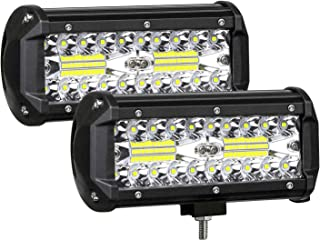 AUZKIN 7 Inches LED Light Bar Submersible driving lights 240W 24000lm LED Pods Spot Flood..