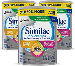 Similac Pro-Advance Non-GMO Infant Formula with Iron, with 2'-FL HMO, for Immune..