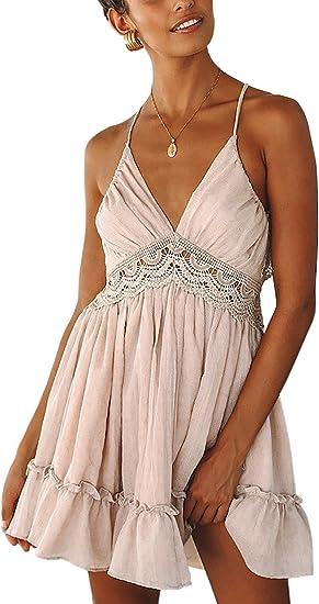 light pink boho dress with details