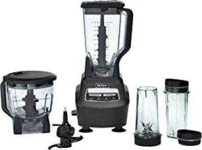 Ninja Mega Kitchen System (BL770) Blender/Food Processor with 1500W Auto-iQ Base, 72oz Pitcher, 64oz Processor Bowl, (2) 1...