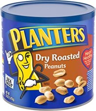 Planters Spiced Dry Roasted Peanuts (52oz Canister, Pack of 2)