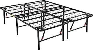 "AmazonBasics Foldable, 18"" Metal Platform Bed Frame with Tool-Free Assembly, No Box.."