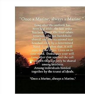 """Once a Marine, Always a Marine""-Marine Corps Creed-Wall Art- 8 x 10"" Wall.."