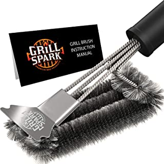Grill Spark Grill Brush and Scraper 18 Inch | Stainless Steel Wire Bristles Brush |..