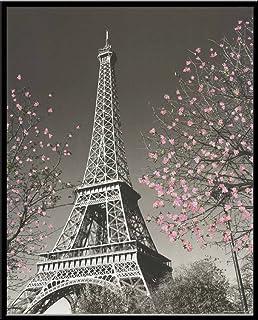 Culturenik Paris Eiffel Tower Blossoms Decorative Photography Travel City Poster Print,..