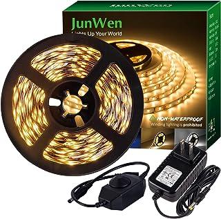 JUNWEN LED Strip Light Warm White,12V Soft Dimmable LED Lights Strip,Flexible..