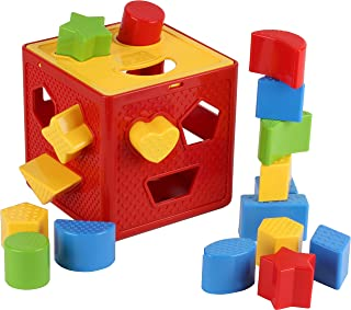 Play22 Baby Blocks Shape Sorter Toy – Childrens Blocks Includes 18 Shapes –..
