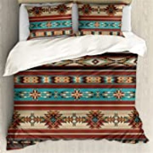 ZFRXIGN Southwester Bedding Sets for Women Men Duvet Cover Native American Indian Style Comforter Quilt Covers Twin 1 Duvet Cover 2 Pillowcases (Queen, Tribal Aztec), Opens in a new tab
