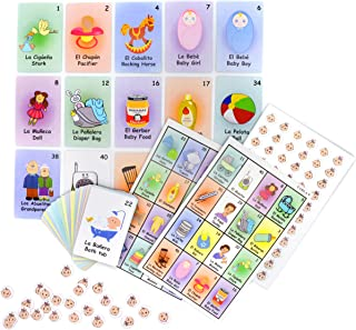JIMMY'S TOYS Baby Shower Loteria Bingo Game – 10 Players & 48 Cards..