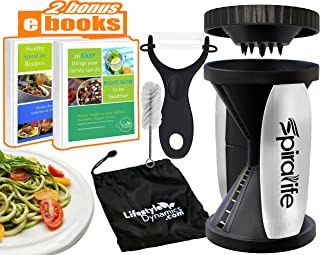 Original SpiraLife Spiralizer Vegetable Slicer – Vegetable Spiralizer – Spiral Slicer Cutter