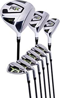 Pinemeadow Men's PGX Golf Set-Driver, 3 Wood, Hybrid, 5-PW Irons (Regular Flex)