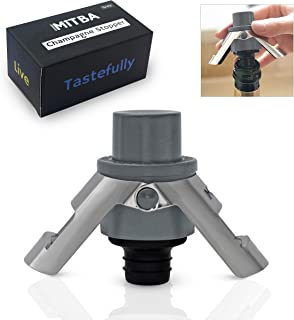 Champagne Stopper by MiTBA Bottle Sealer for Champagne Cava Prosecco and Sparkling Wine..