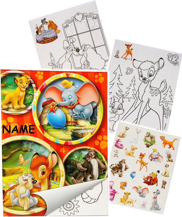 alles-meine.de GmbH Sticker & Malblock - Disney Tiere / Bambi