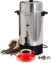 West Bend 33600 Highly Polished Aluminum Commercial Coffee Urn Features Automatic..