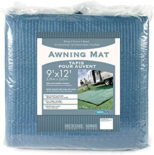 Camco Durable Reversible RV Camper Awning Mat- Mildew and Rust Resistant Help Prevents..