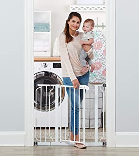 Regalo Easy Step 38.5-Inch Extra Wide Walk Thru Baby Gate, Includes 6-Inch Extension Kit,..