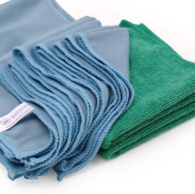 Microfiber Glass Cleaning Cloths - 18 Pack  Lint Free - Streak