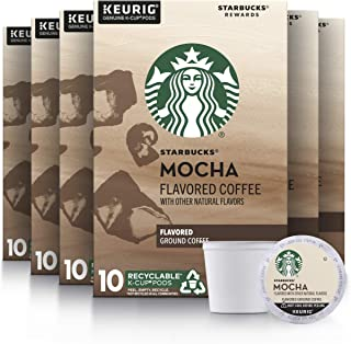 Starbucks Medium Roast K-Cup Coffee Pods — Mocha for Keurig Brewers — 6 boxes (60 pods total)