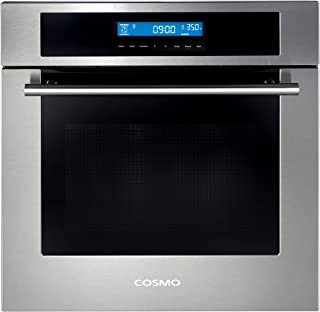 Cosmo C106SIX-PT 24 in. 2.5 cu. ft. Single Electric Wall Oven with 10 Functions, Faster..