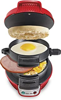 Hamilton Beach Breakfast Sandwich Maker, Red (25476)
