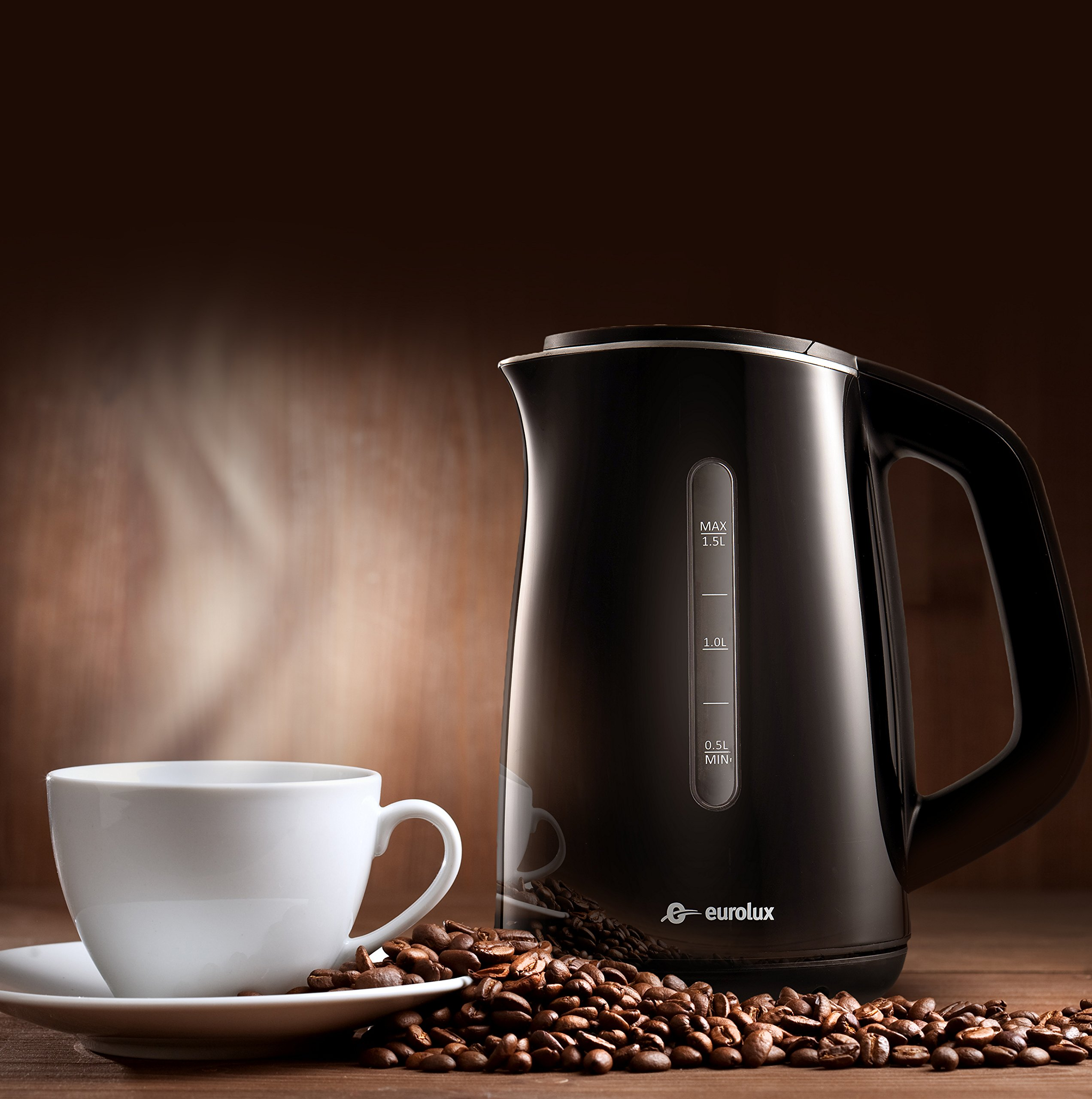 Product Image 4: HadinEEon Electric Kettle 1.7L Glass Electric Tea Kettle (BPA Free) Cordless Teapot, Portable Electric Hot Water Kettle with Auto Shutoff Protection, Stainless Steel Lid & Bottom