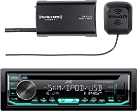 JVC Car CD Player Receiver USB AUX Radio – Bundle Combo with SiriusXM SXV300v1..