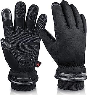 OZERO Waterproof Winter Gloves Men Women -30 ℉ Cold Proof Touchscreen Anti Slip Silicon..