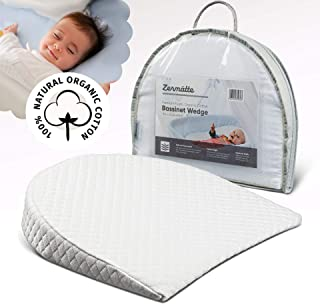 Zermätte Bassinet Wedge Pillow for Reflux Baby Sleep- for Infant and Newborn Colic &..