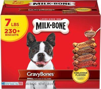 Amazon.com : Milk-Bone Gravy Bones Dog Treats, 4 Meat Flavors Variety Pack, 7 Pound Box : Pet Supplies