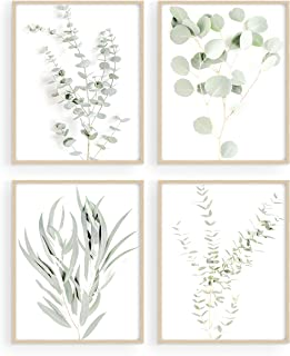 Botanical Plant Wall Art Prints – Set of 4 Plant Wall Decor Pictures Minimalist..