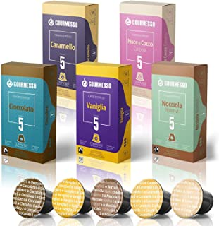 50 Fairtrade Flavored Espresso Capsules Compatible with Original Line Nespresso Pod..
