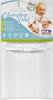 """LA Baby Contoured Waterproof Diaper Changing Pad, 32"""" with Easy to Clean Quilted.."""