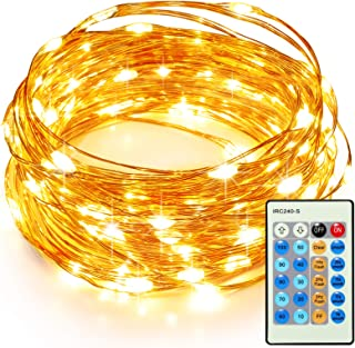 TaoTronics 33ft 100 LED String Lights TT-SL036 Dimmable with Remote Control, Waterproof..