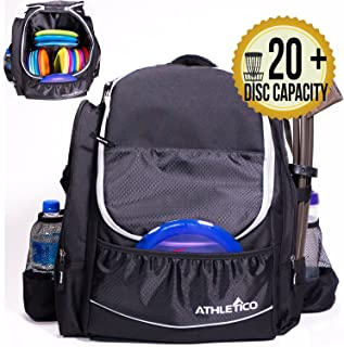 Athletico Power Shot Disc Golf Backpack   20+ Disc Capacity   Pro or Beginner Disc Golf..