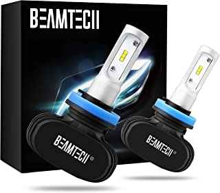BEAMTECH H11 LED Bulb, 50W 6500K 8000Lumens Extremely Brigh H8 H9 CSP Chips Conversion..