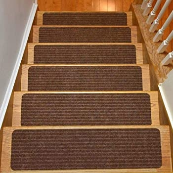 Amazon Com Rugstylesonline Stair Treads Collection Set Of 13 | 8 Inch Carpet Stair Treads | Bullnose Carpet | Wood Stairs | Rubber Backing | Mat | Non Slip Stair
