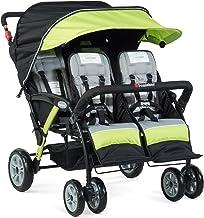 Foundations 2020 Stroller, The Quad Sport 4-Passenger, Lime