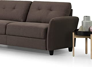 Zinus Contemporary Upholstered, Sofa, Chestnut Brown