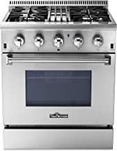"""Thorkitchen HRD3088U 30"""" Freestanding Professional Style Dual Fuel Range with 4.2.."""