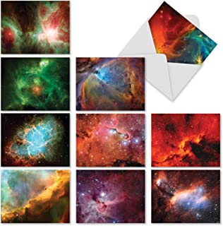 The Best Card Company, Galacticards – 10 Galaxy Note Cards Blank (4 x 5.12 Inch)..